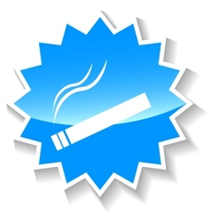 Cigarette blue icon vector