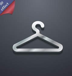 Clothes hanger icon symbol 3d style trendy modern vector