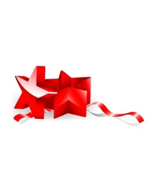 starshaped giftbox vector image