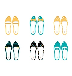 retro shoes collection vector image