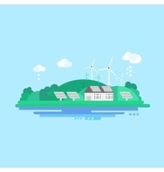 Eco energy landscape vector
