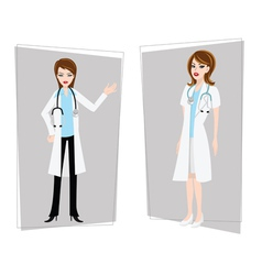 Doctor nurse female vector