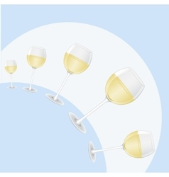 hemisphere of glasses of wine vector image