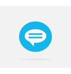 Contact concept message and speech bubble vector