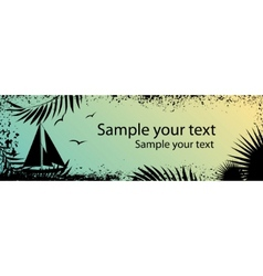 abstract sea grunge banner vector image vector image