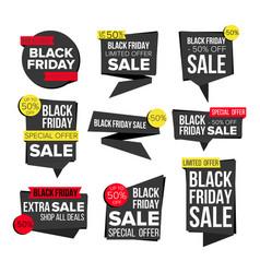 black friday sale banner set website vector image