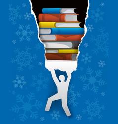 Books christmas present vector