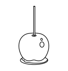 Candy apple isolated icon vector