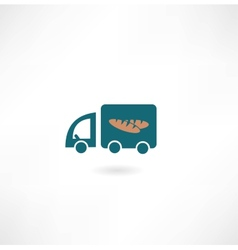 car with bread icon vector image