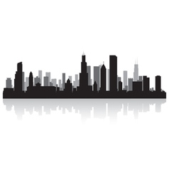 Chicago USA city skyline silhouette vector image