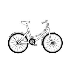 Classic bicycle icon vector