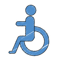 Disable person sign icon vector