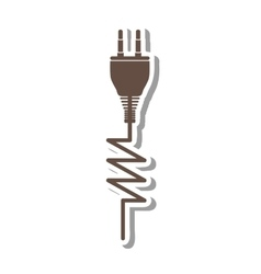 electricity plug icon image vector image