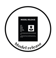 Icon of model release document vector image vector image