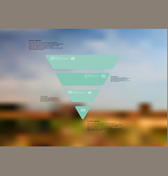 Infographic template with triangle horizontally vector