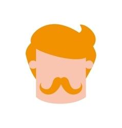 Man mustache male avatar head person icon vector