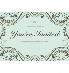 Ornate invitations vector
