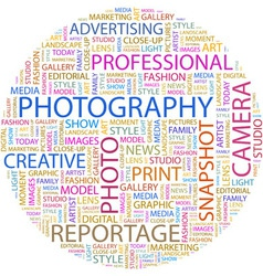 PHOTOGRAPHY vector image vector image