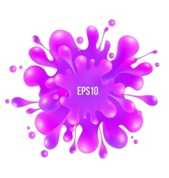 Pink paint splash isolated on white background vector