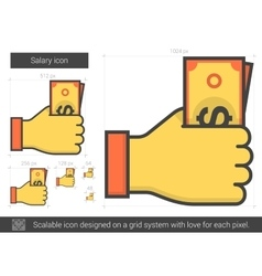 Salary line icon vector