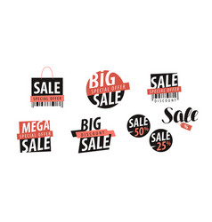 sale logo or label shopping closeout discount vector image