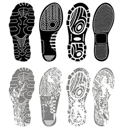 shoe print grunge vector image vector image