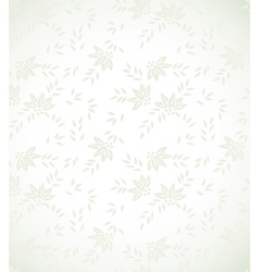 Silver floral background vector image