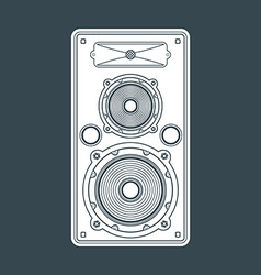 Solid color concert loudspeaker vector