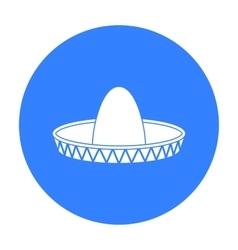 Sombrero icon in black style isolated on white vector