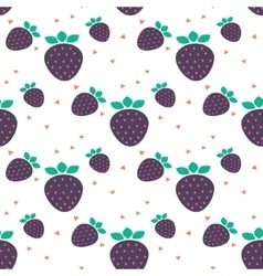 Strawberry seamless pattern with dots vector image vector image