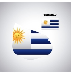 uruguay country design vector image