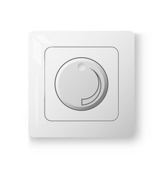White dimmer power switch vector