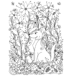 Zen Tangle dog and puppy vector image vector image