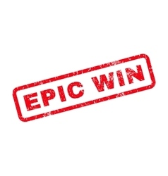 Epic win text rubber stamp vector