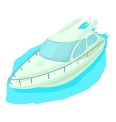 Cruise ship icon cartoon style vector