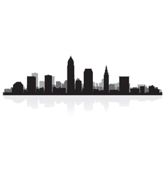 Cleveland usa city skyline silhouette vector