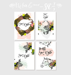 hand made abstract graphic save the date vector image
