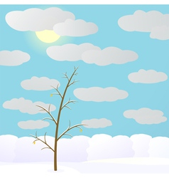 Winter in forest vector