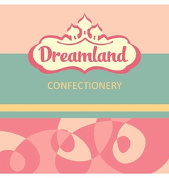 Logo and design elements for the confectionery vector