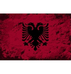 Albanian flag grunge background vector