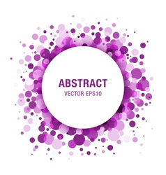 Purple - violet abstract circle frame vector