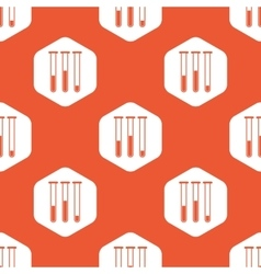 Orange hexagon test-tubes pattern vector