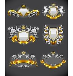 heraldic vintage vector image