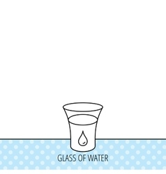 Glass of water icon drop sign vector