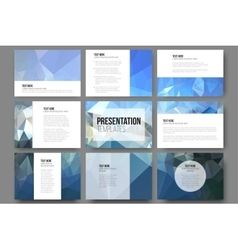 Set of 9 templates for presentation slides vector