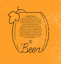 Vintage beer background vector