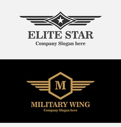 Royal Military Wings Logo vector image