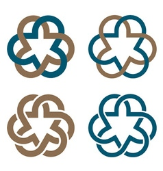 Abstract magic knot flower eternity emblem vector
