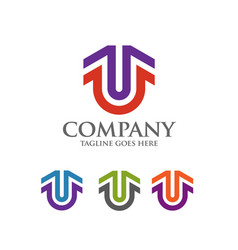 Best letter u logo symbol vector