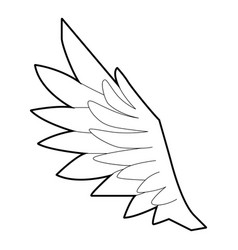 Bird wing icon outline style vector